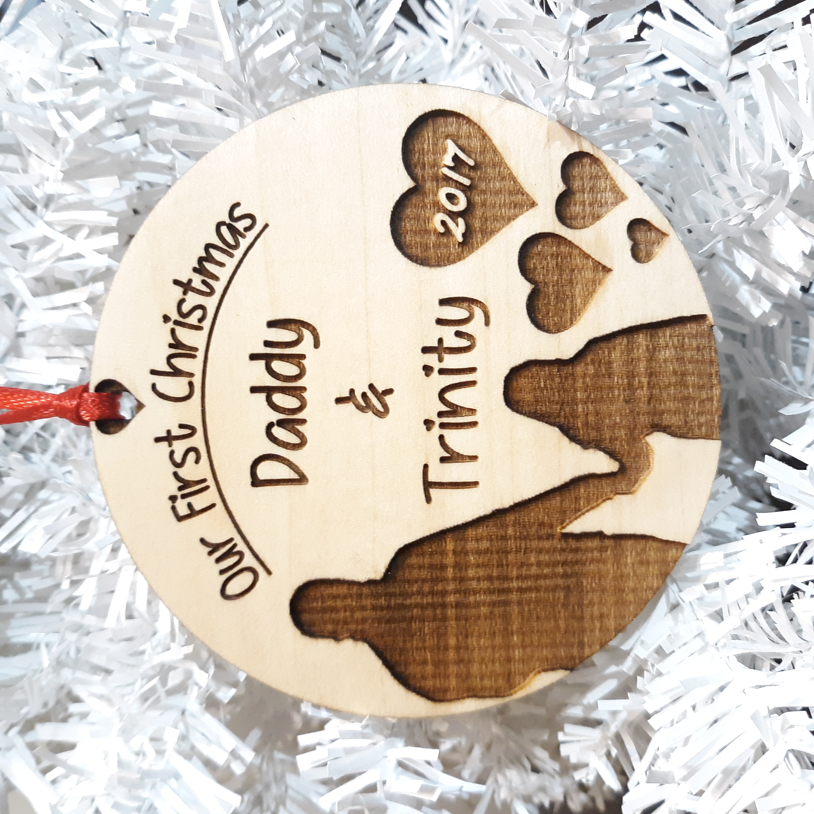 Daddy & Daughter First Christmas Ornament – Fishburn ...